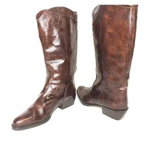 Women's Size 8.5 Croc Embossed Western Boots
